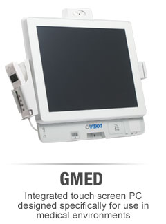 GMED integrated touch screen PC for medical use