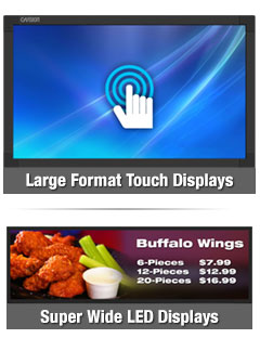 Large format and super wide displays