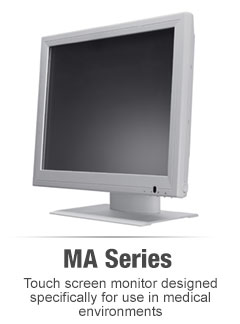 MA series medical touch screen monitors